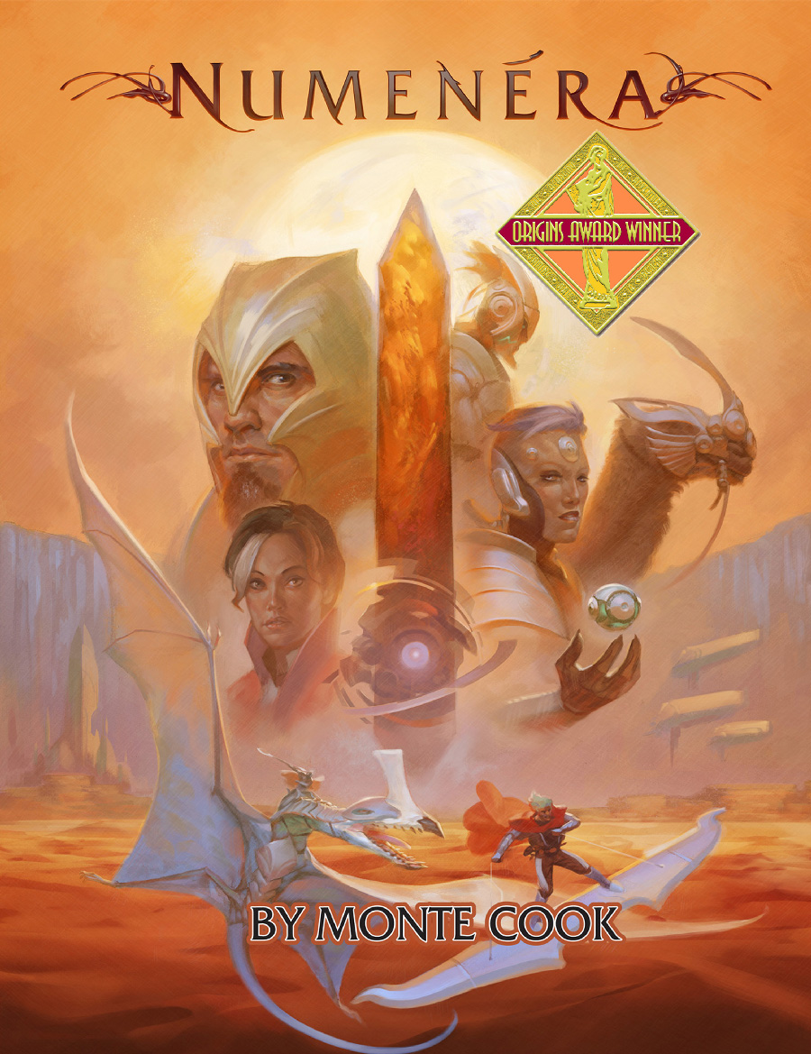 Numenera Cover with Origins Award