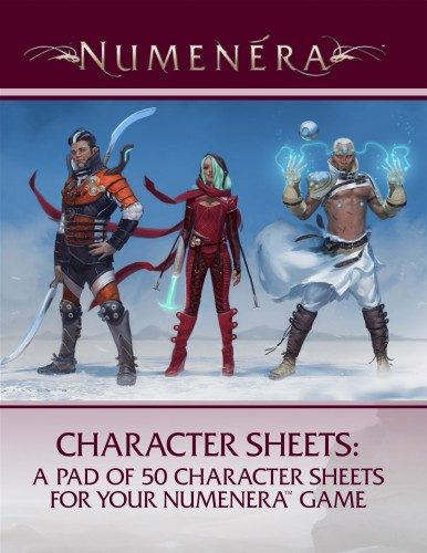 Numenera Character Sheets (T.O.S.) -  Monte Cook Games