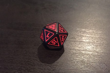 Cypher d20 with a 1