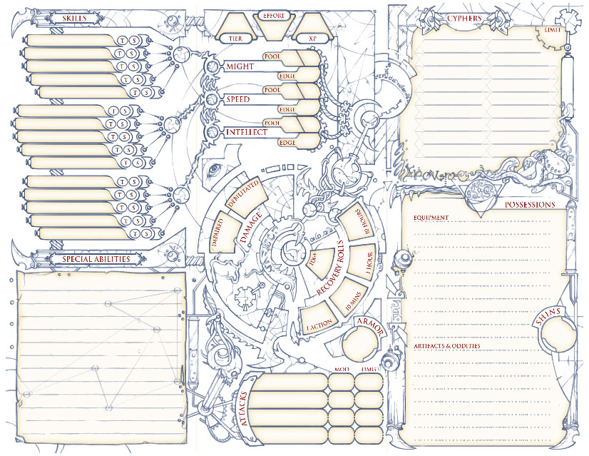 character sheet - Picture Sheets