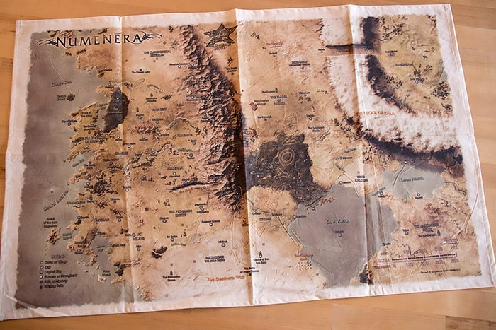 The cloth map.
