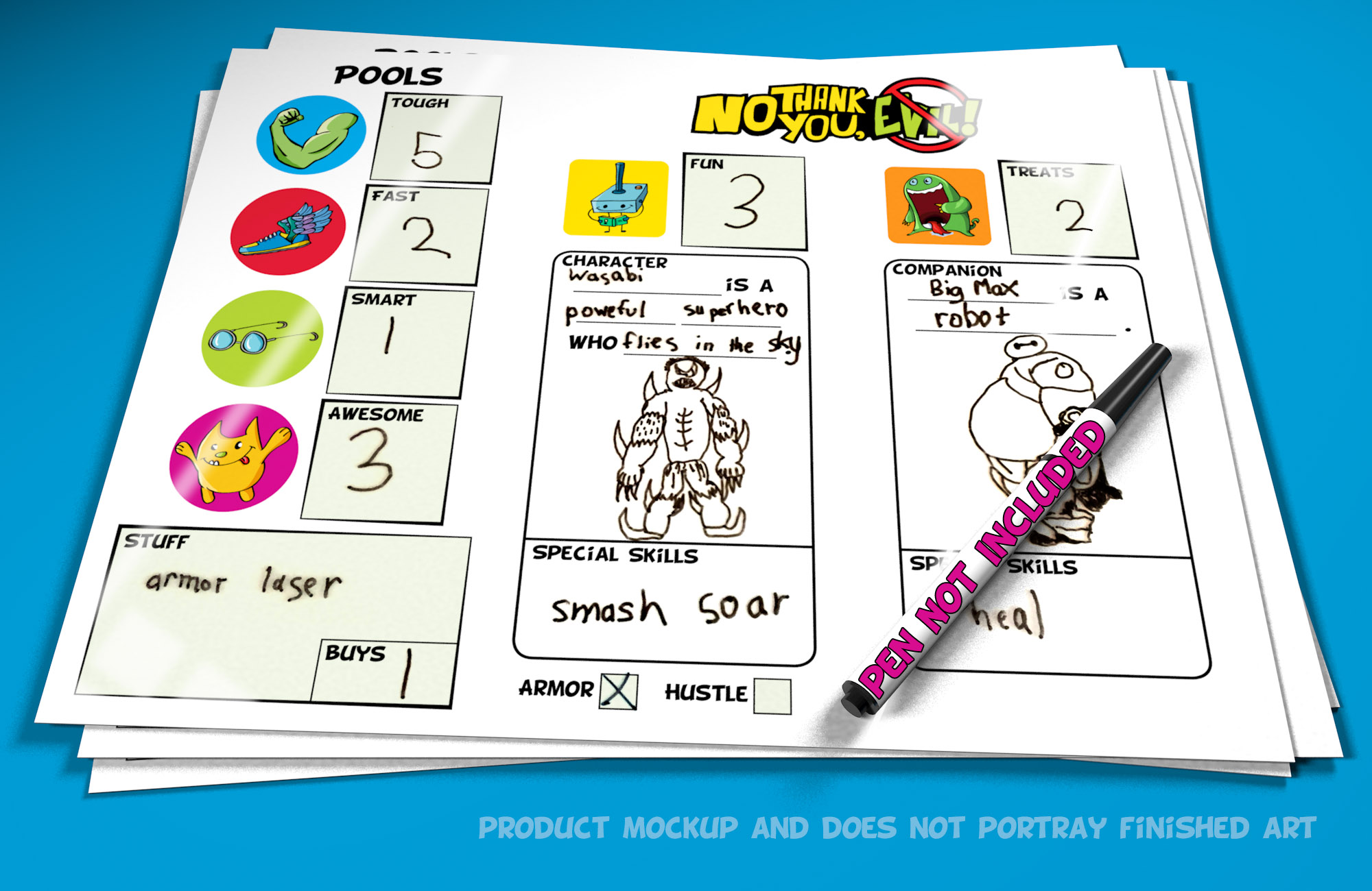 Character Sheet-Dry Erase5b-Pen
