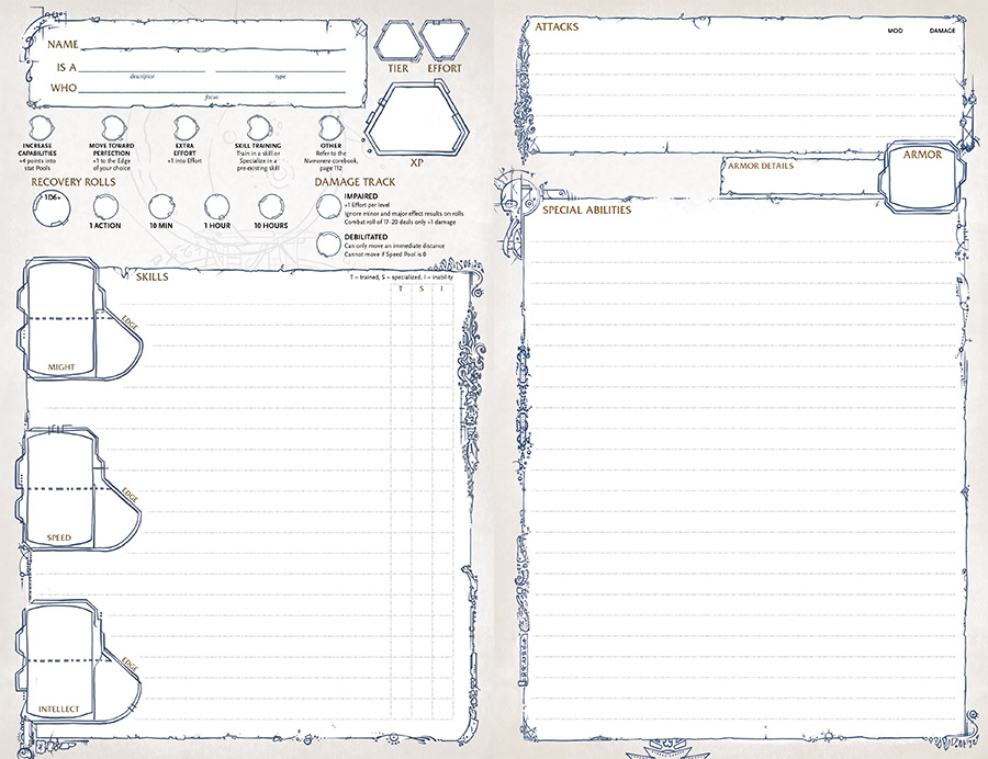 Character Design Pdf Free Download : Numenera character portfolio monte cook games store