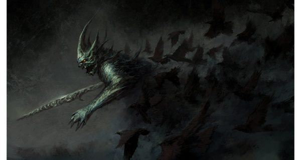 Demon of Ravens illustration by Chris Cold