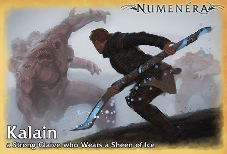 Kalain, a Strong Glaive who Wears a Sheen of Ice