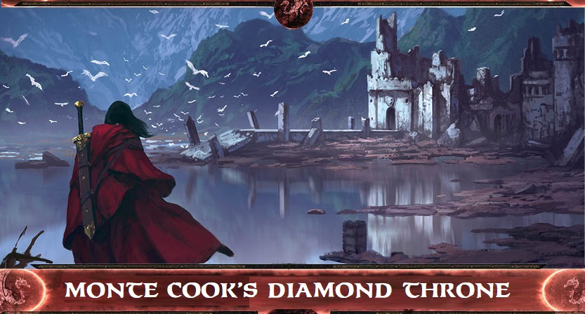 Have you checked out Monte Cook's Diamond Throne RPG on Kickstarter? If not, do yourself a favor, head over and back it. Our friends at Here Be Dragons Games are bringing Monte's acclaimed setting back into print for the Cypher System, and it's going to be a great addition to your gaming library!