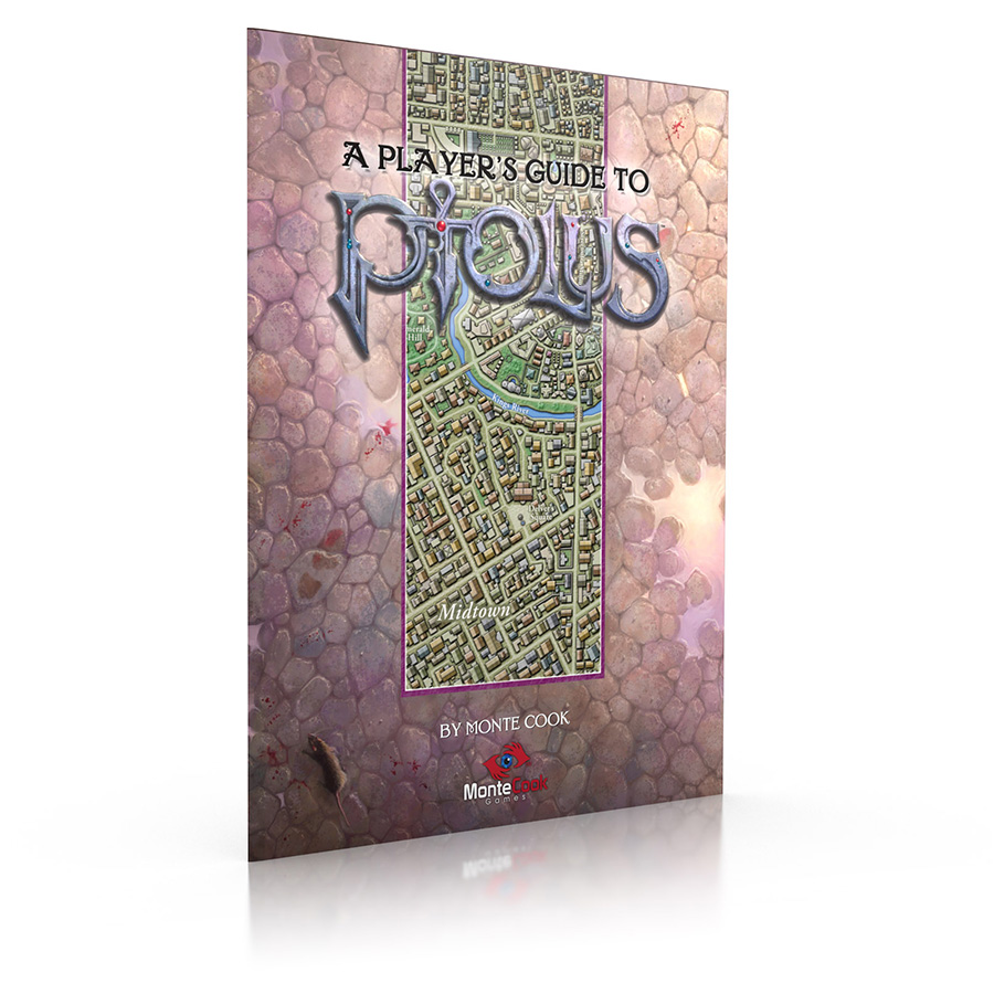A rendered image of a Player's Guide To Ptolus