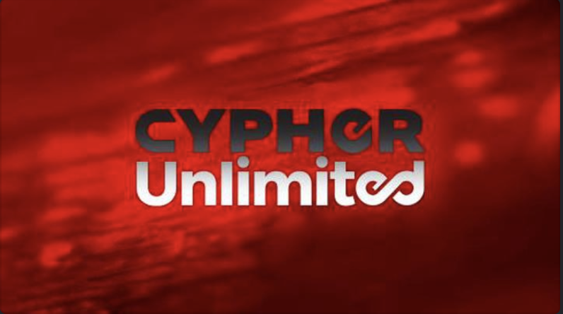 Cypher Unlimited Logo on Red Background