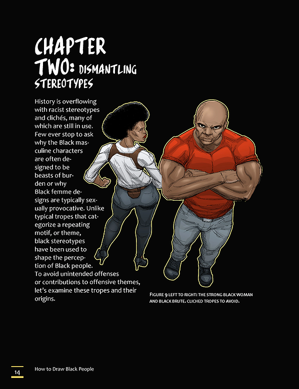 A page from the book How to Draw Black People.
