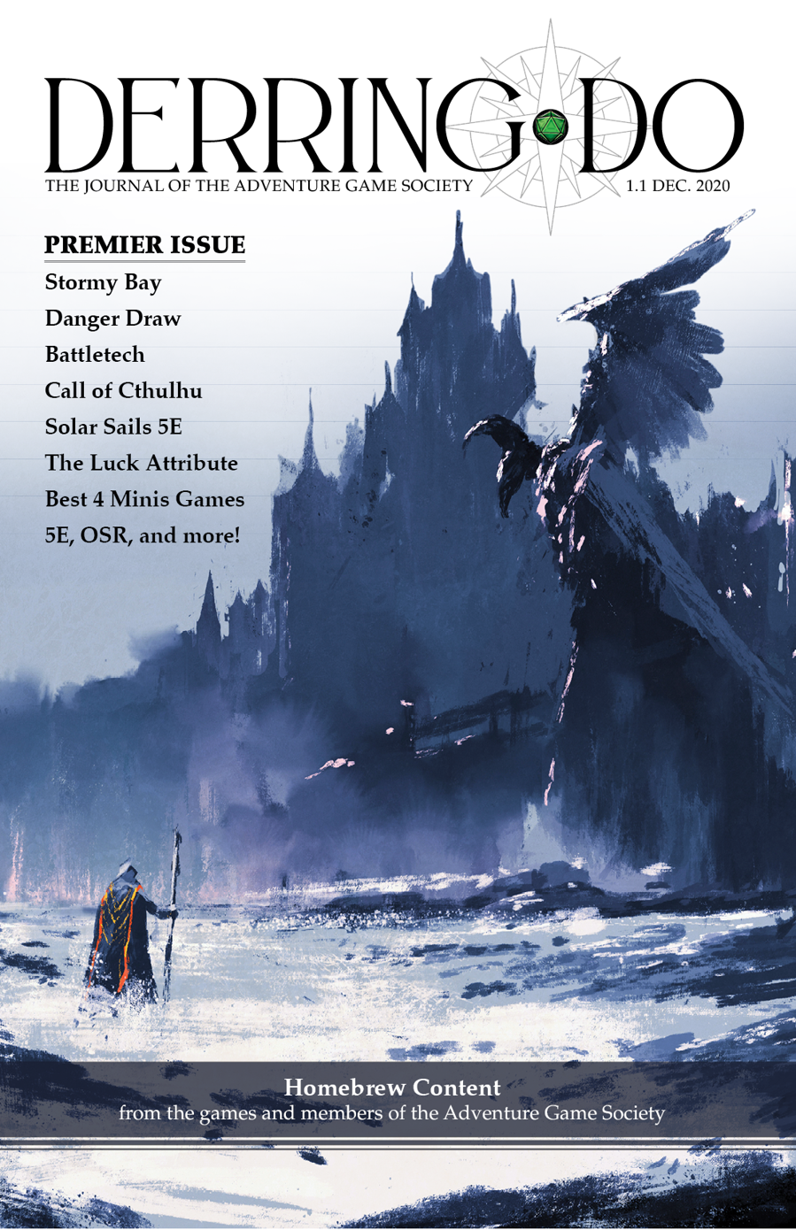 The cover of an issue of DerringDo magazine.