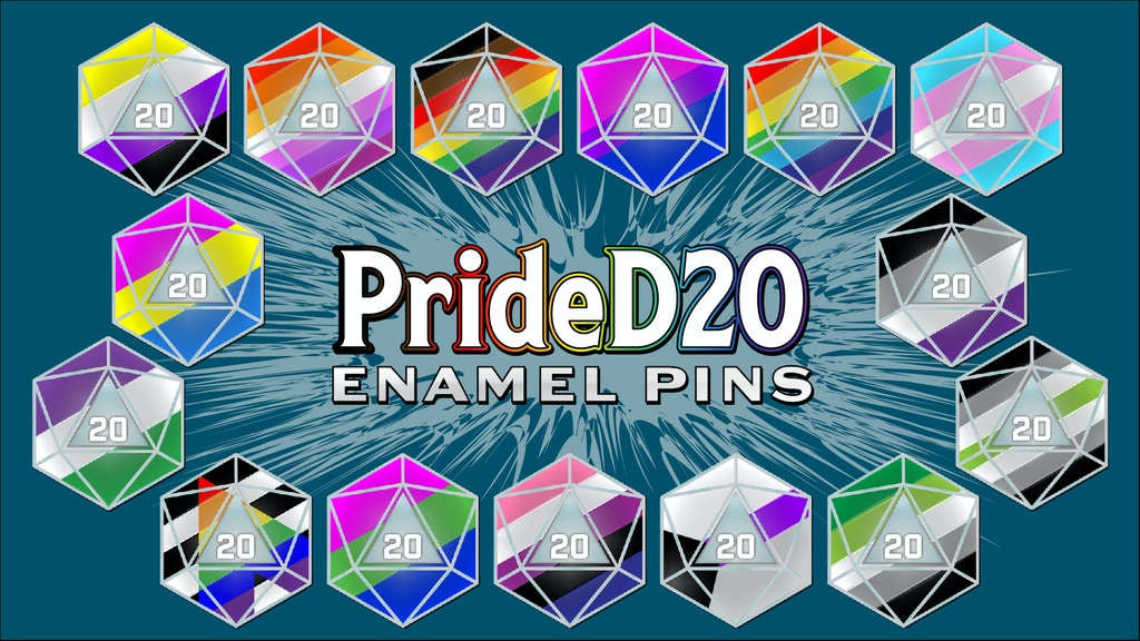 Pride 20 pins in a wide selection of colors