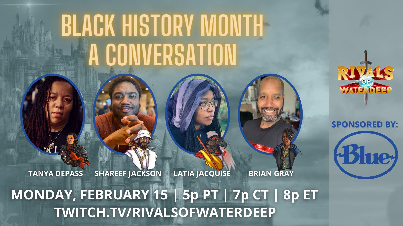 Image of participants in Black History Month: A Conversation