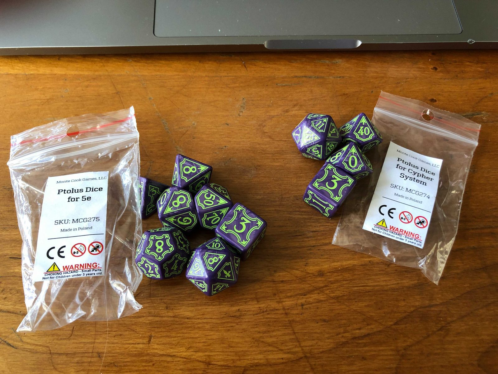 Photo of Ptolus Dice for 5E & Cypher System