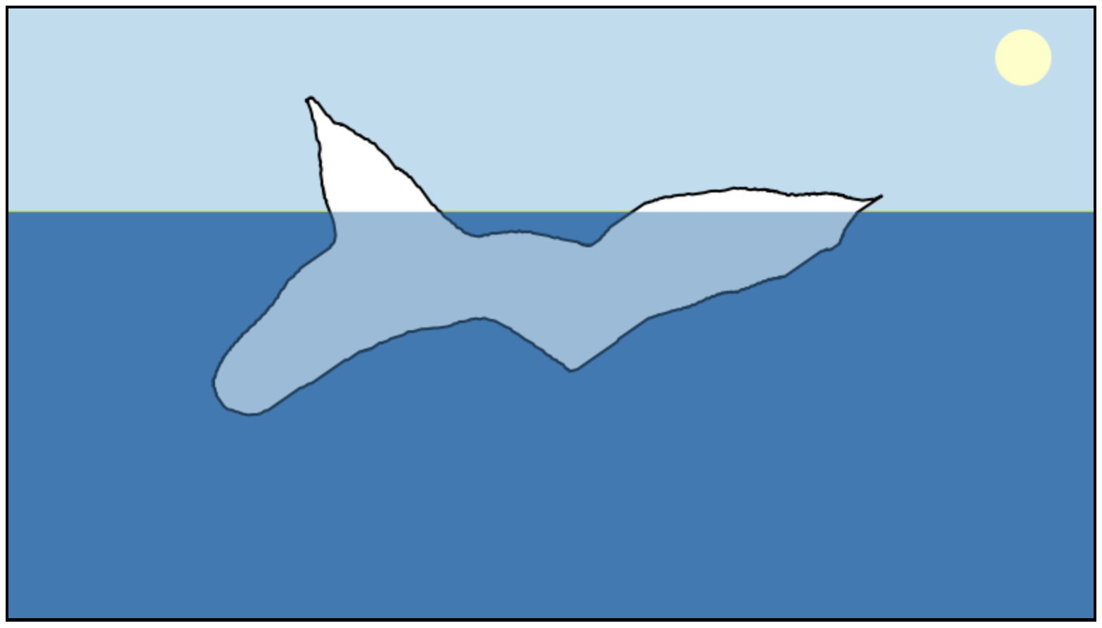 A screenshot of a rather funky looking hand-drawn iceburg.