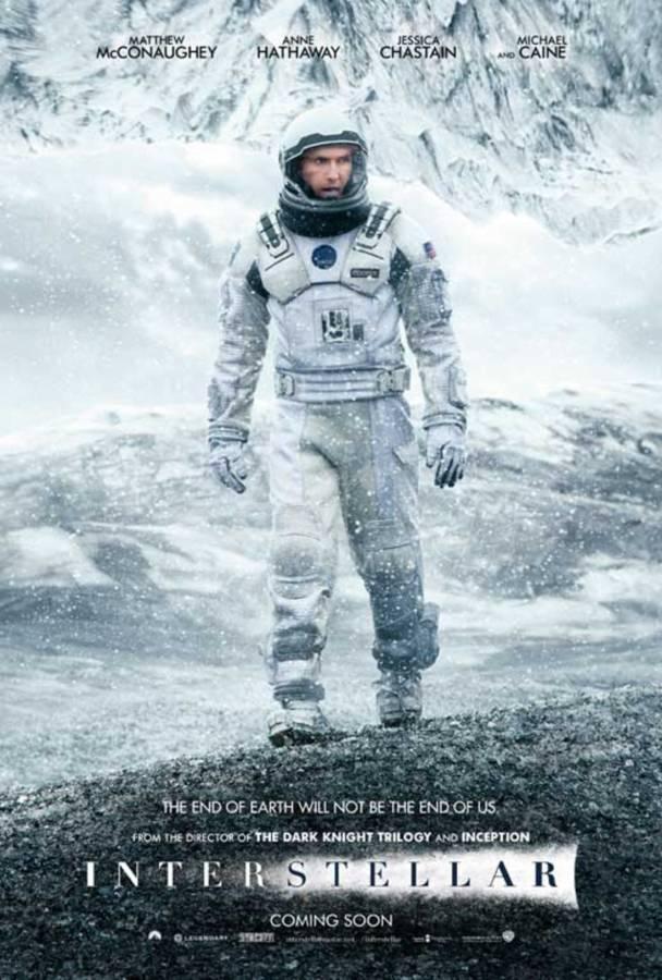 Poster for the movie Interstellar.