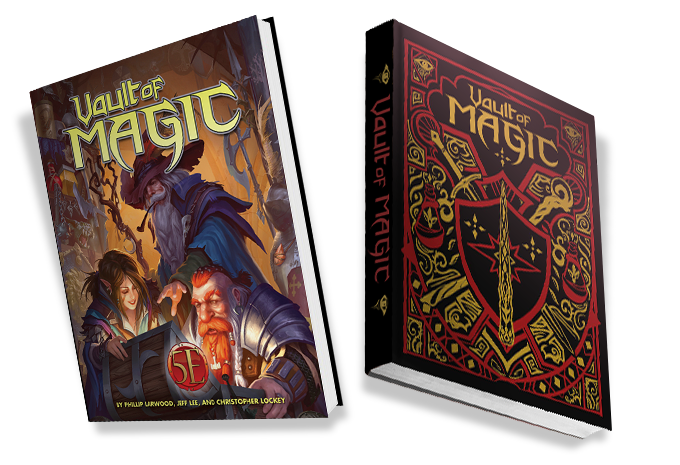 Image from the Vault of Magic Kickstarter, which shows two cover views of the product. One view is the standard edition, the other view is the limited edition.