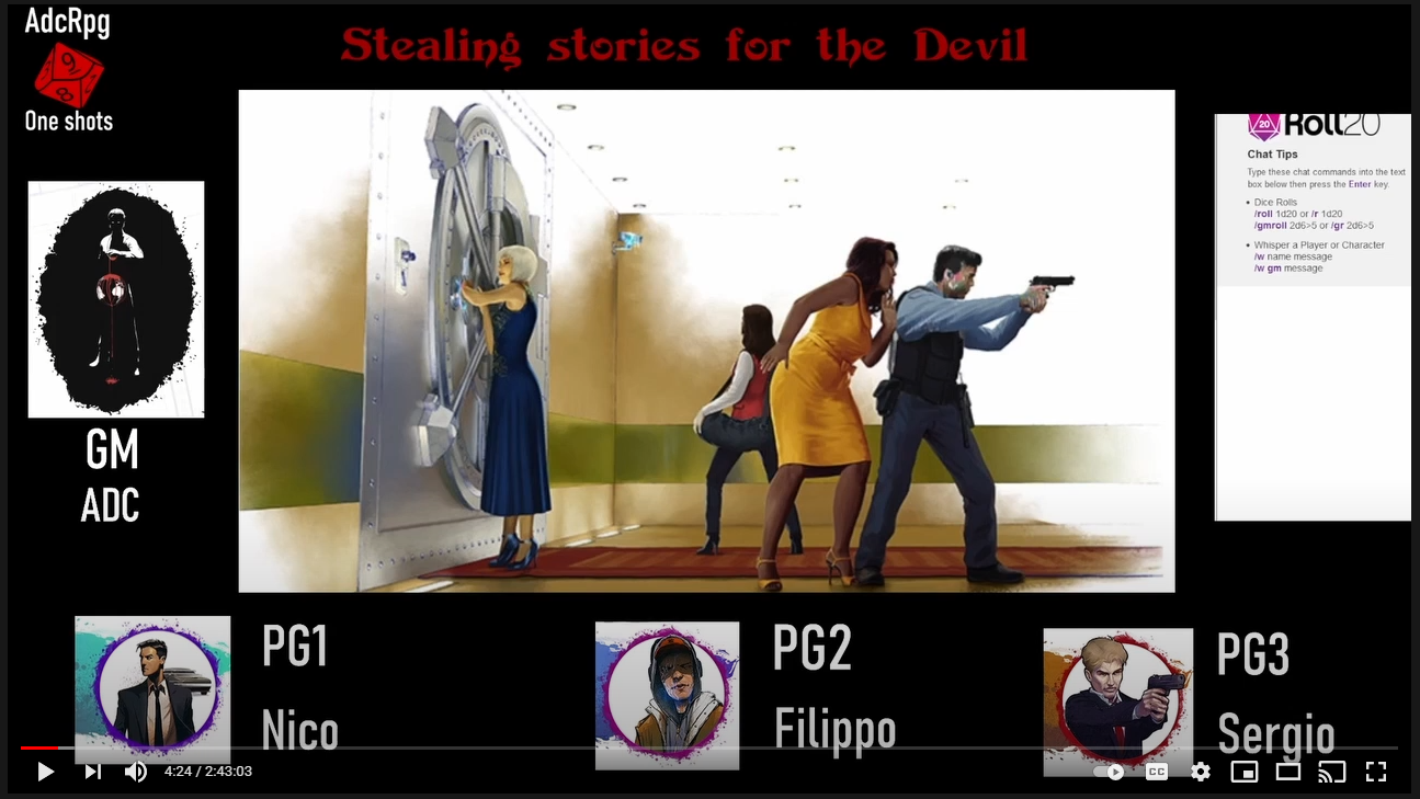 Screenshot of Angelo's One-Shot of Stealing Stories for the Devil